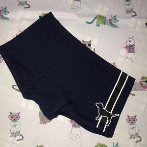 Victoria's Secret Pink navy dog boyshort